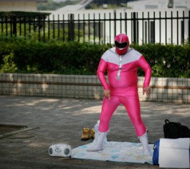 Power Ranger en licra