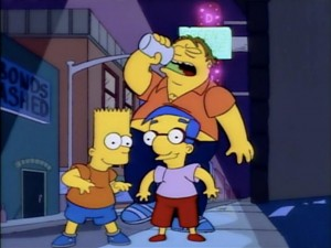 Barney, Bart y Milhouse