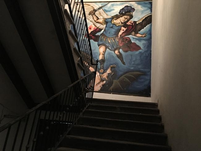 El graffiti de San Miguel Arcángel
